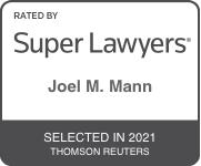 Super Lawyers Badge 2021 Joel M. Mann
